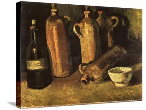 Still Life with Four Stone Bottles, 1884-Vincent van Gogh-Stretched Canvas Print