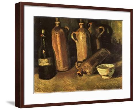 Still Life with Four Stone Bottles, 1884-Vincent van Gogh-Framed Art Print