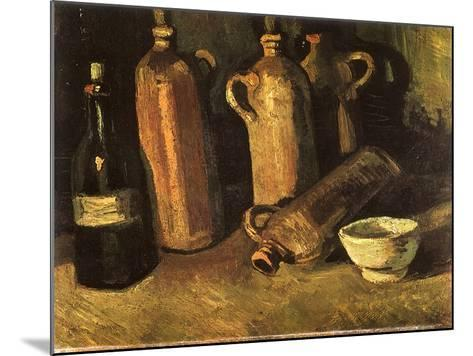 Still Life with Four Stone Bottles, 1884-Vincent van Gogh-Mounted Giclee Print