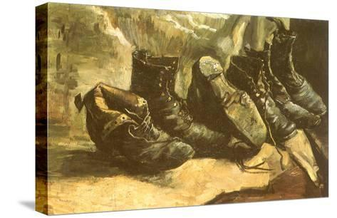 Line of Old Boots, 1886-Vincent van Gogh-Stretched Canvas Print