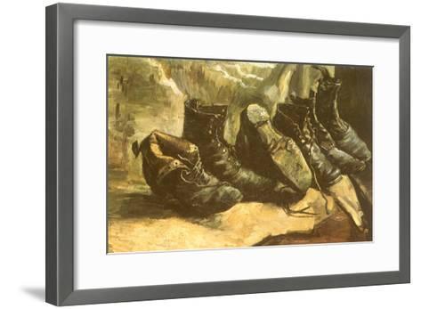 Line of Old Boots, 1886-Vincent van Gogh-Framed Art Print