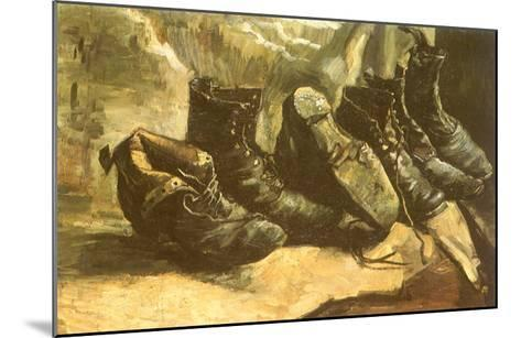 Line of Old Boots, 1886-Vincent van Gogh-Mounted Giclee Print