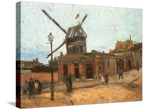 Village Street, 1886-Vincent van Gogh-Stretched Canvas Print