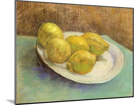 Still Life with Lemons on a Plate, 1887-Vincent van Gogh-Mounted Giclee Print