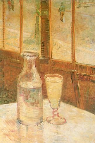 Still Life with Absinthe, 1887-Vincent van Gogh-Stretched Canvas Print