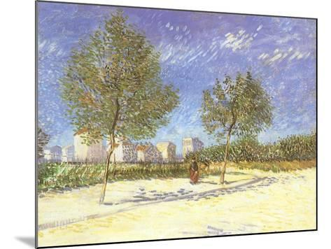 Outskirts of Paris, 1887-Vincent van Gogh-Mounted Giclee Print