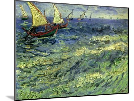 Seascape at Saintes-Maries, 1888-Vincent van Gogh-Mounted Giclee Print