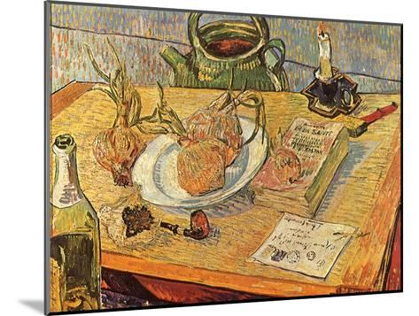 Still Life with Onions and Drawing Table, 1889-Vincent van Gogh-Mounted Giclee Print