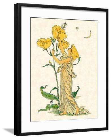 Evening Primrose Nymph, 1889-Walter Crane-Framed Art Print