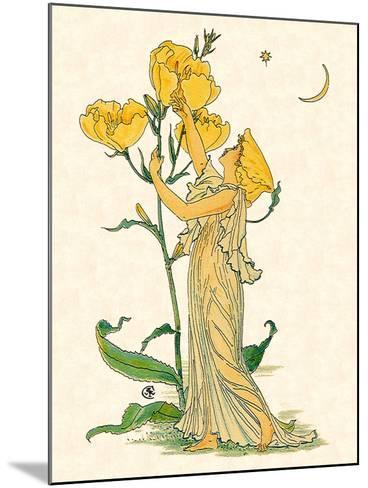 Evening Primrose Nymph, 1889-Walter Crane-Mounted Giclee Print