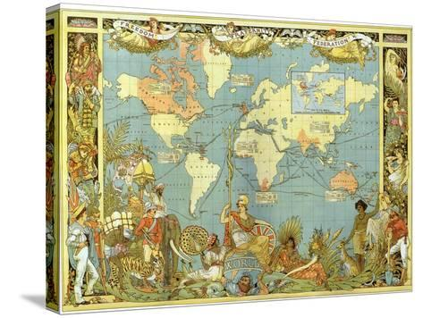 Map of the British Empire in 1886-Walter Crane-Stretched Canvas Print