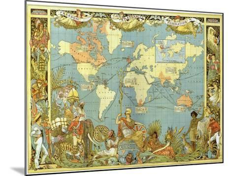 Map of the British Empire in 1886-Walter Crane-Mounted Giclee Print