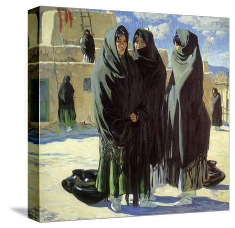 Taos Girls, 1916-Walter Ufer-Stretched Canvas Print