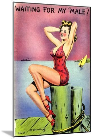 Pin-Up on the Dock of the Bay, 1945--Mounted Giclee Print