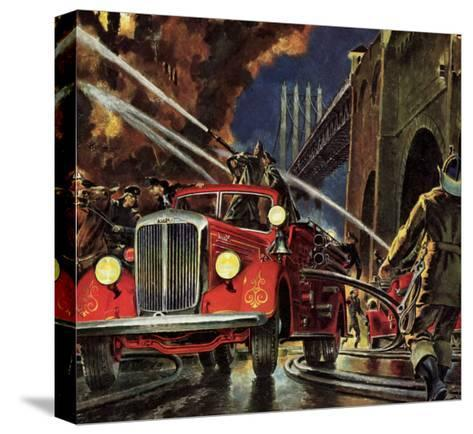 Firetruck at Night, 1943--Stretched Canvas Print