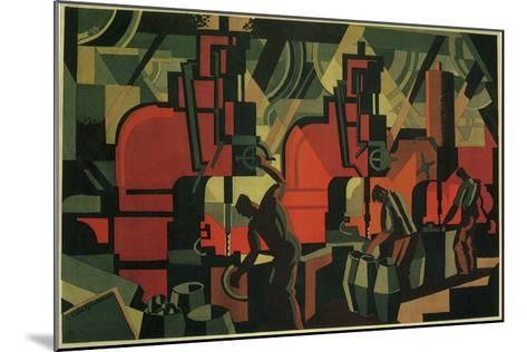 Manufacturing Men, 1928--Mounted Giclee Print