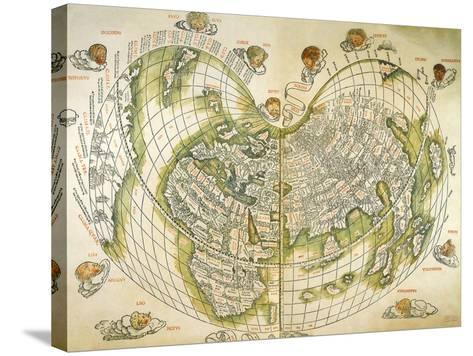 Map of the World 1511--Stretched Canvas Print