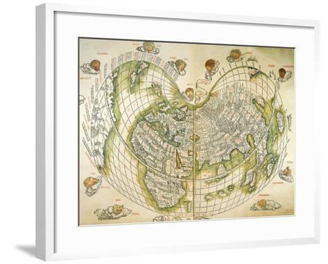 Map of the World 1511--Framed Art Print