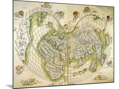 Map of the World 1511--Mounted Giclee Print