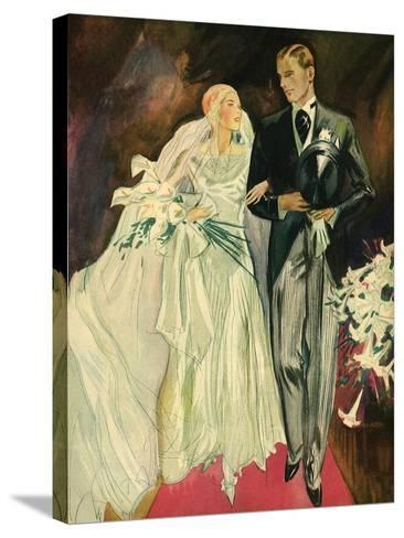 Bride and Groom, 1930--Stretched Canvas Print