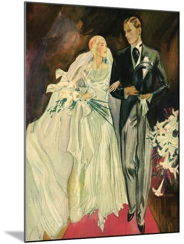 Bride and Groom, 1930--Mounted Giclee Print