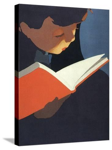Boy Reading, 1925--Stretched Canvas Print