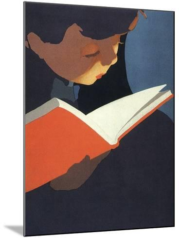 Boy Reading, 1925--Mounted Giclee Print