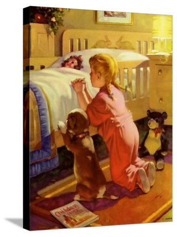 Praying Child and Dog, 1941--Stretched Canvas Print