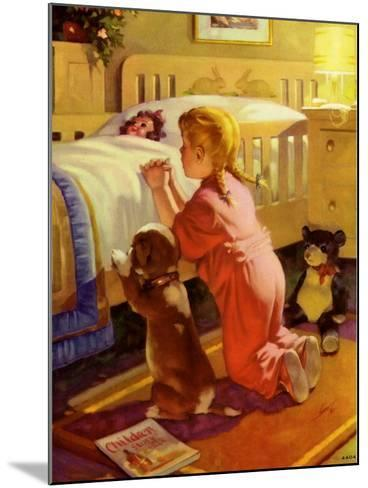 Praying Child and Dog, 1941--Mounted Giclee Print