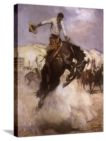 Breezy Riding, 1926--Stretched Canvas Print