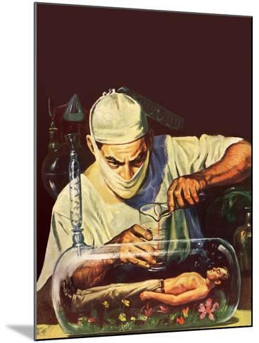 Sci Fi - Mad Scientist, 1950--Mounted Giclee Print