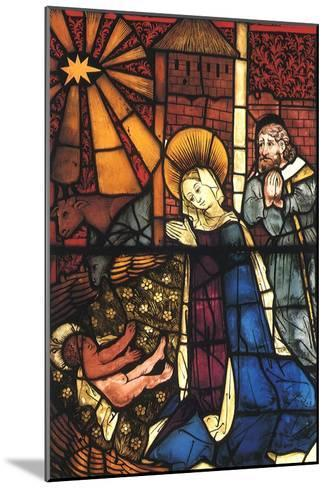 Stained Glass Nativity, 1443--Mounted Giclee Print