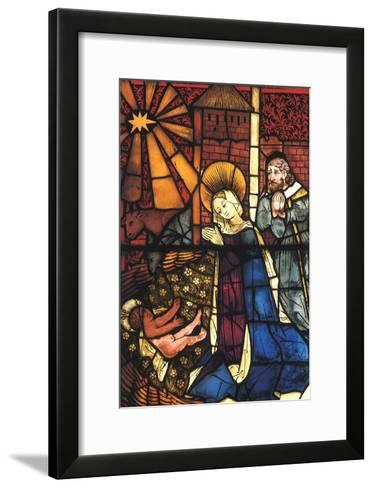 Stained Glass Nativity, 1443--Framed Art Print
