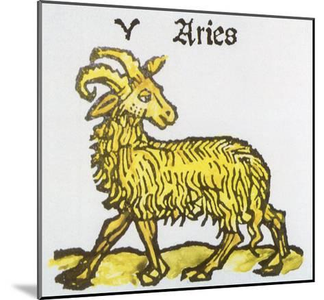 Aries the Ram, 1489--Mounted Giclee Print