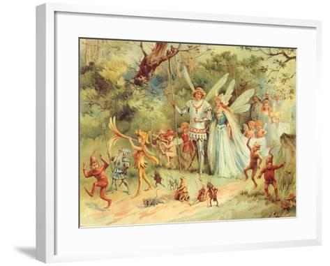 King and Queen Fairy, 1910--Framed Art Print