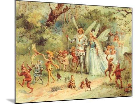 King and Queen Fairy, 1910--Mounted Giclee Print