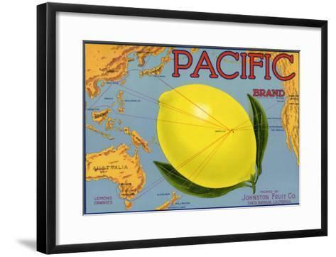 Lemon Fruit Label, 1940--Framed Art Print