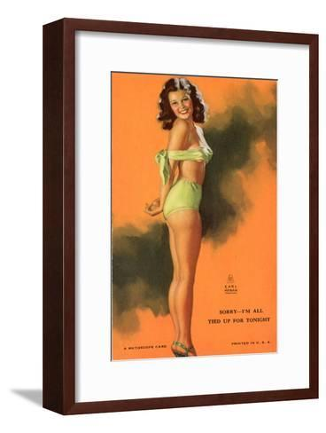 Pin-Up Girl Tied Up in Bathing Suit, 1940--Framed Art Print