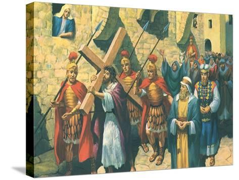 Christ Bearing the Cross, 1965--Stretched Canvas Print