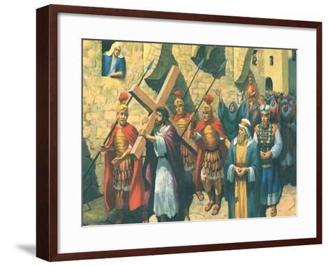 Christ Bearing the Cross, 1965--Framed Art Print