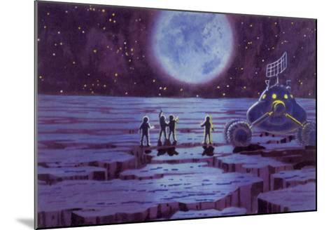 Sci Fi - Spacemen on Blue Alien Planet, 1966--Mounted Giclee Print