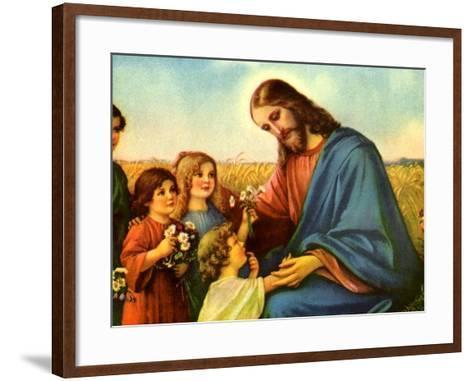 Jesus and Children--Framed Art Print