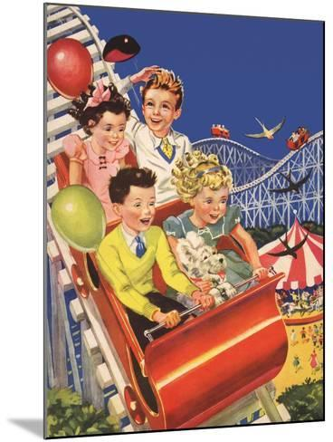 Kids on Roller Coaster--Mounted Giclee Print