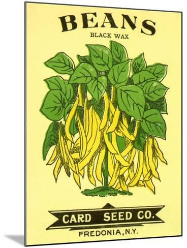 Beans Seed Packet--Mounted Giclee Print