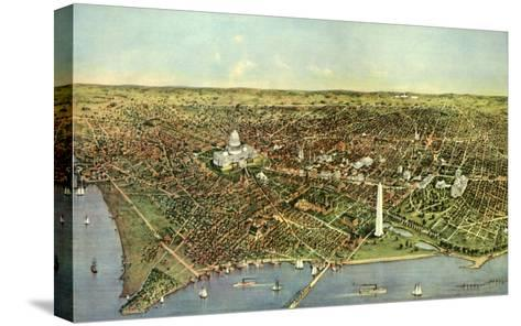 Map of Washington D.C., 1892--Stretched Canvas Print