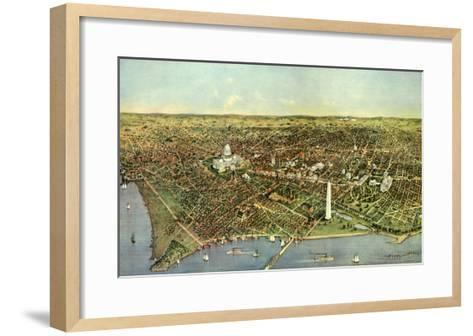 Map of Washington D.C., 1892--Framed Art Print