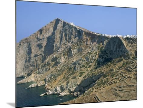 Chapel and Khora, Main Village Perched on Edge of Cliffs, Folegandros, Cyclades, Greece-Richard Ashworth-Mounted Photographic Print