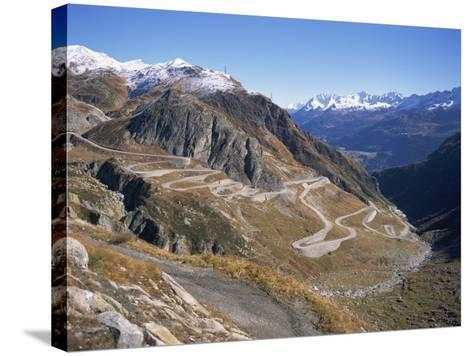 St. Gotthard Pass, with First Autumn Snow on the Mountains, in Ticino, Switzerland-Richard Ashworth-Stretched Canvas Print