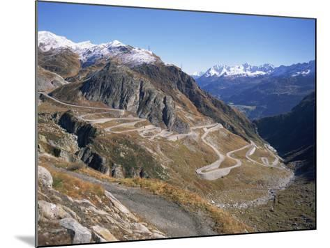 St. Gotthard Pass, with First Autumn Snow on the Mountains, in Ticino, Switzerland-Richard Ashworth-Mounted Photographic Print