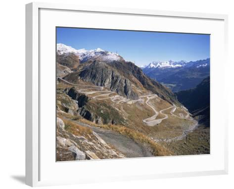 St. Gotthard Pass, with First Autumn Snow on the Mountains, in Ticino, Switzerland-Richard Ashworth-Framed Art Print
